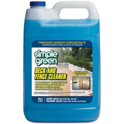 simple green 128 oz deck and fence cleaner pressure