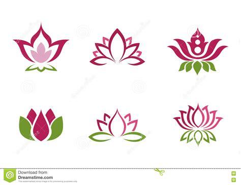 fiore di loto disegno stilizzato fondo stilizzato di vettore dell icona fiore di loto