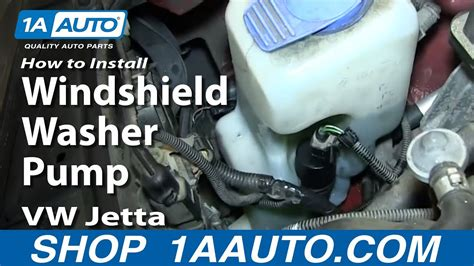 replace windshield washer pump   volkswagen jetta  golf  auto