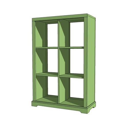 white build a 6 cubby bookshelf free and easy diy