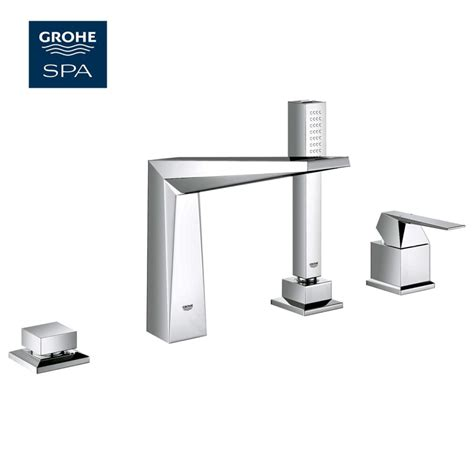 grohe bathtubs grohe allure brilliant 4 hole bath shower set uk bathrooms