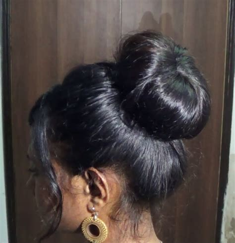 updo hairstyles with donut donut hair bun updo hairstyle for medium long hair