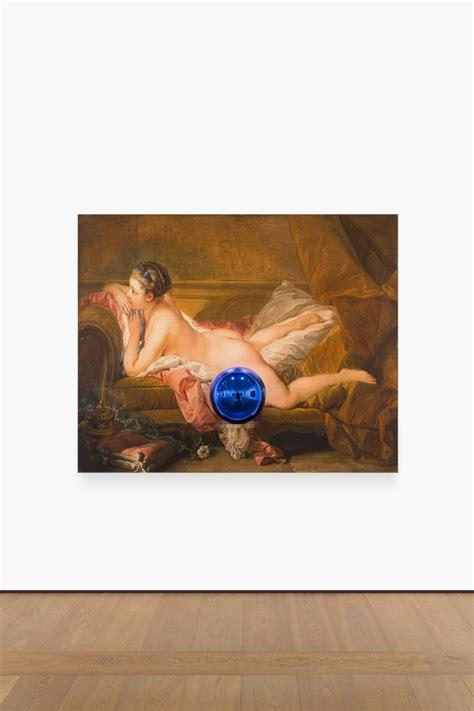 reclining girl boucher jeff koons almine rech gallery