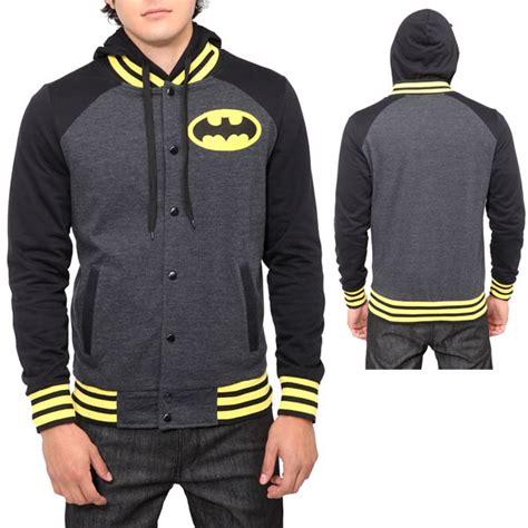 Jaket Hoodie Varsity Varcity Jaket Jacket Hj V4 Button Zipper dc comic batman varsity hoodie