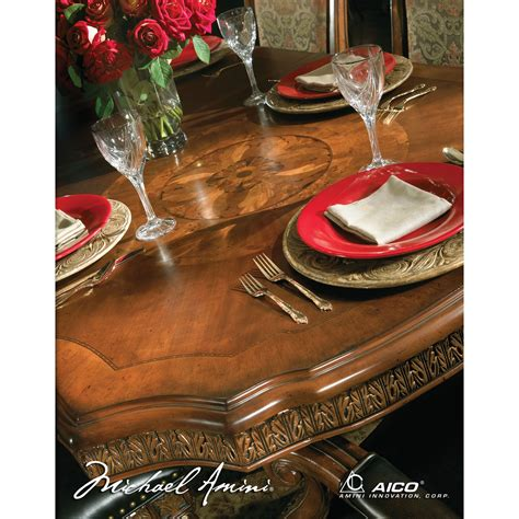 villa valencia rectangular dining table by michael amini michael amini villa valencia rectangular dining table by