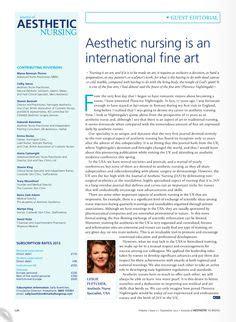 Aesthetic Nursing by Journal Of Aesthetic Nursing Expert Editorial Board Leslie Fletcher Rn Mep C Injectability