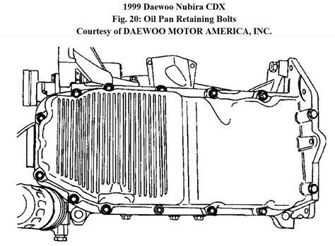 1999 daewoo nubira head bolt removal diagram f350 oil pan diagram wiring diagram fuse box