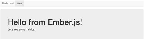 creating a metrics dashboard with ember js bootstrap and