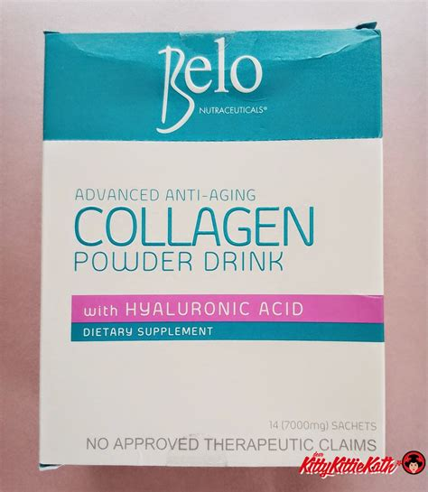Drink Collagen product review belo nutraceuticals collagen powder drink