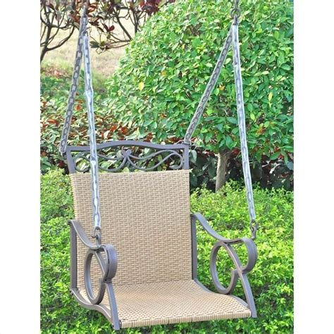 hanging patio swing outdoor wicker hanging patio swing 4101 sgl