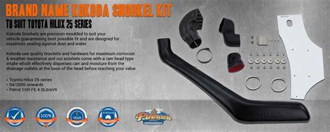 brand kokoda snorkel kit  suit toyota hilux  series