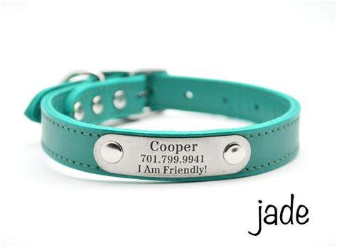 collar with nameplate leather collar with personalized nameplate flying collars