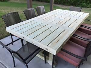 build your own rustic patio table using a few simple