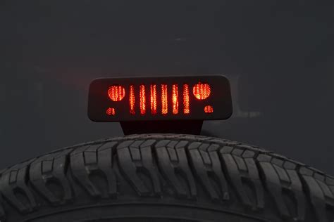 jeep wrangler 3rd brake light jeep grill third brake light guard jt12b
