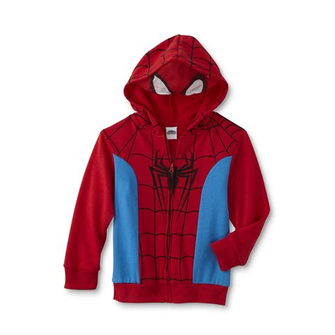 Jaket Hoody Marvel marvel spider toddler boys costume hoodie jacket