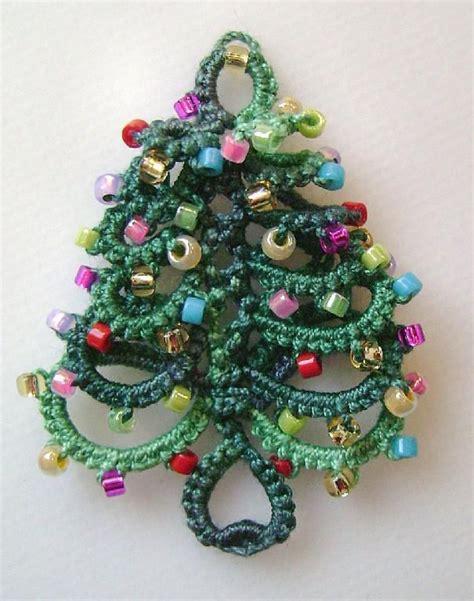christmas tree tatting pattern 17 best images about tatting jewelry on pinterest