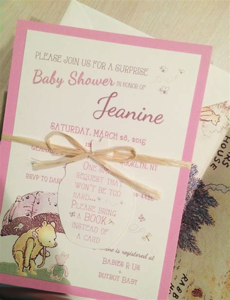 Classic Pooh Invitations Baby Shower by Classic Pooh Baby Shower Invitations On The