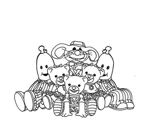 teddy bear in pajamas coloring page banana bananas in pyjamas party pinterest bananas