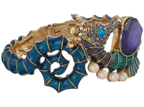 Betsey Johnson Blue Seahorse lyst betsey johnson into the blue seahorse hinge bangle