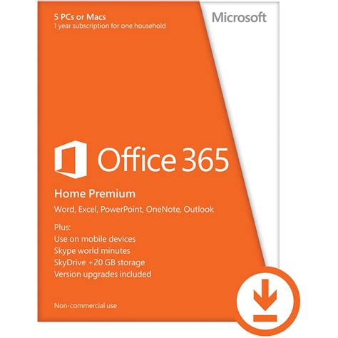 microsoft office 365 home premium 2013 6gq 00091 b h photo