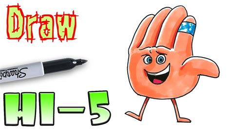 how to a to high five how to draw hi 5 emoji