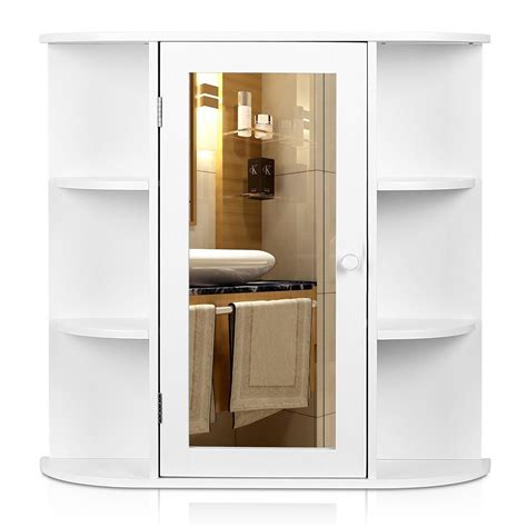 wall mount bathroom cabinet storage organizer medicine cabinet kitchen laundry ebay