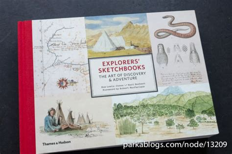 explorers sketchbooks the art 050025219x travelogue parka blogs