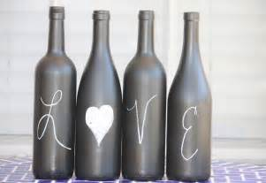 recycled wine bottles label or paint a bottle with