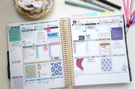 how i organize amp decorate my erin condren planner wendaful