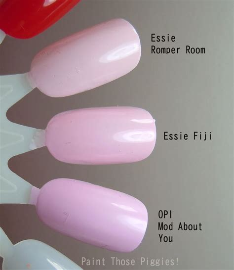 fiji nail color essie pomper room vs fiji vs opi mod about you nails