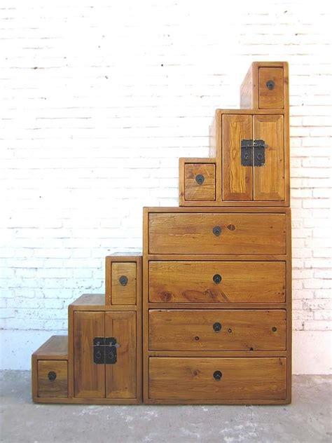 kommode naturholz china gro 223 e treppen kommode schubladen honigbraun naturholz