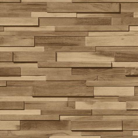 Room Wall Murals muriva thin wood blocks brown wood effect vinyl wallpaper