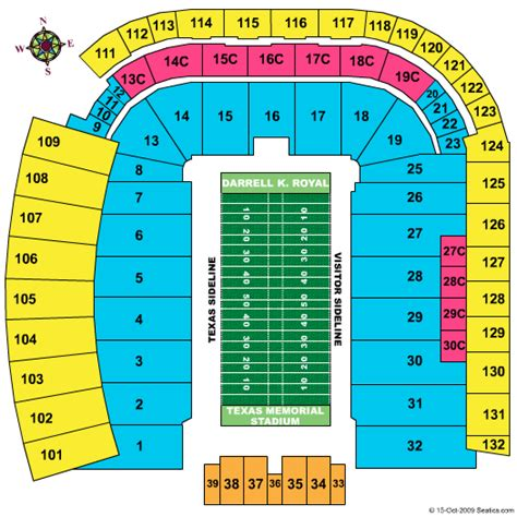 texas stadium map wvu football tickets seating chart darrell k royal