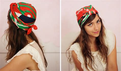 tutorial make turban oh the lovely things how to tie a turban with a square scarf