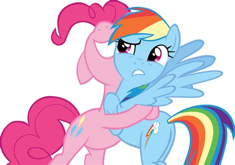 Bgc My Pinkie Pony Rainbow Dash And Friends Kantung Depan Tas R pinkie pie hugging rainbow dash by snx11 on deviantart