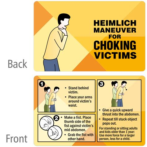 printable choking instructions printable heimlich maneuver instructions www pixshark