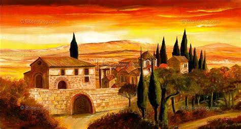 Mediterrane Bilder Gemalt by Wandbild Morro Spanisches Dorf Wandbilder