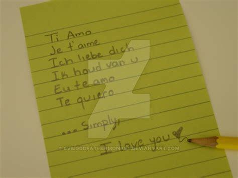 7 Ways To Say I You by 7 Ways To Say I You By Evilgodfathermonkey On Deviantart
