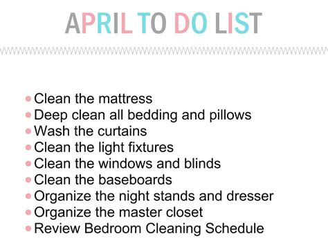 how to clean your bedroom master bedroom organization the april to do list for the