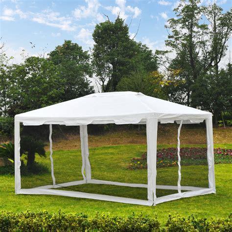 pavillon mit seitenwänden outsunny pavillon partyzelt gartenpavillon gartenzelt