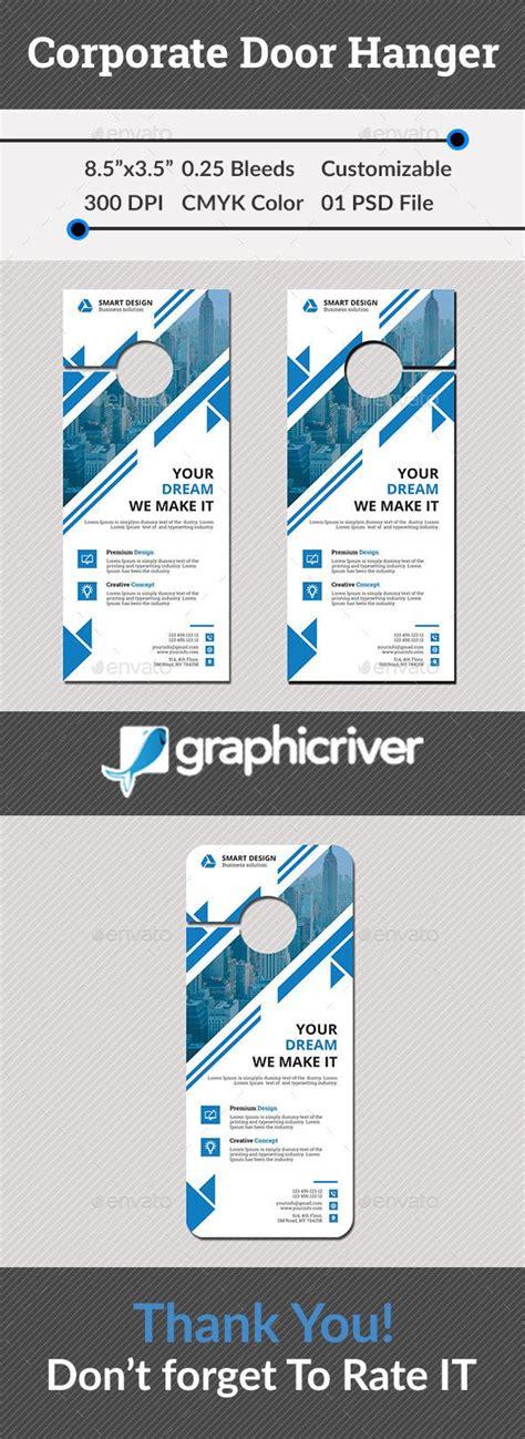 corporate door hanger print templates door hangers