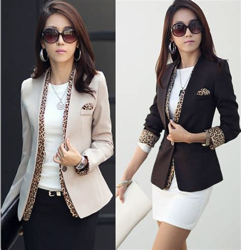 aliexpress buy 2014 new fashion spring women korean style 2014 new leopard blazer women s spring summer korean style