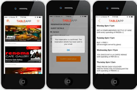 malaysia s online restaurant booking site table app has