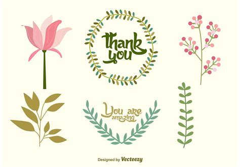 Wedding Floral Vector Decorations   Download Free Vector