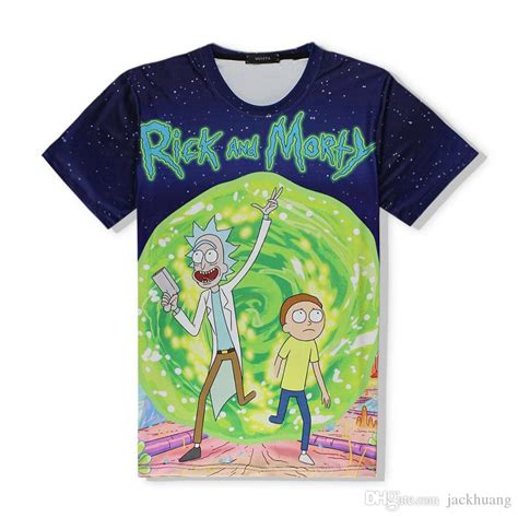 anime t shirts anime gifts art posters more anime rick and morty t shirt 3d pattern print polyester