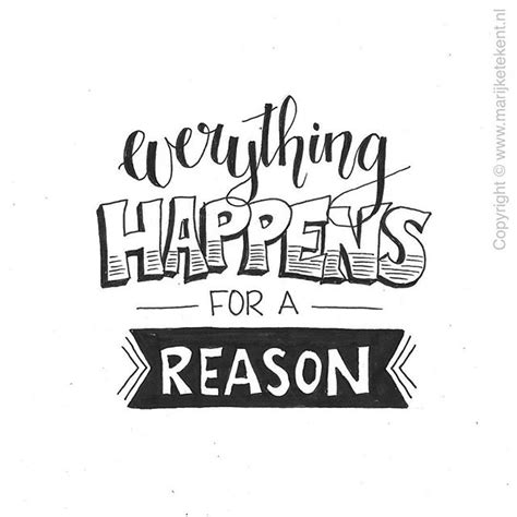doodle drawing quotes everything happens for a reason my inspiration