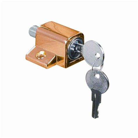 security polished brass window vent lock 2