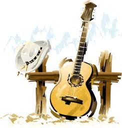 country music guitare chapeau country music png music
