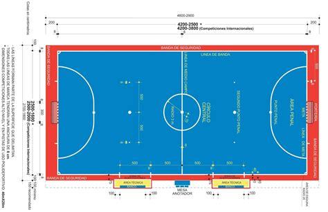dimensiones pista futbol sala pista futbol sala dimensiones qu 233 dimensiones debe tener