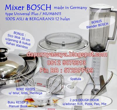 Resmi Mixer Bosch mixer bosch mixer jagoan made in germany asli bergaransi